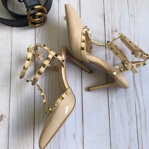 Studded High Heels Pumps